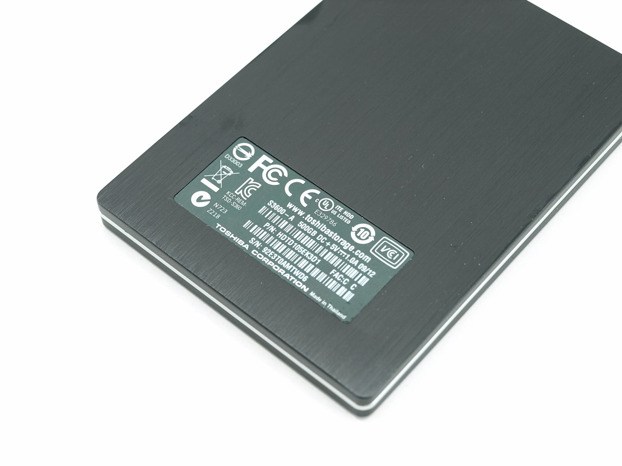 toshiba stor e slim 500gb usb 3 0 portable hard drive review. Black Bedroom Furniture Sets. Home Design Ideas